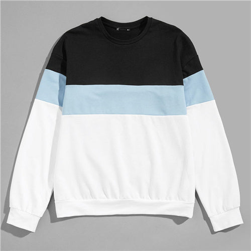 SweatyRocks Men Color-Block Pullover Sweatshirt