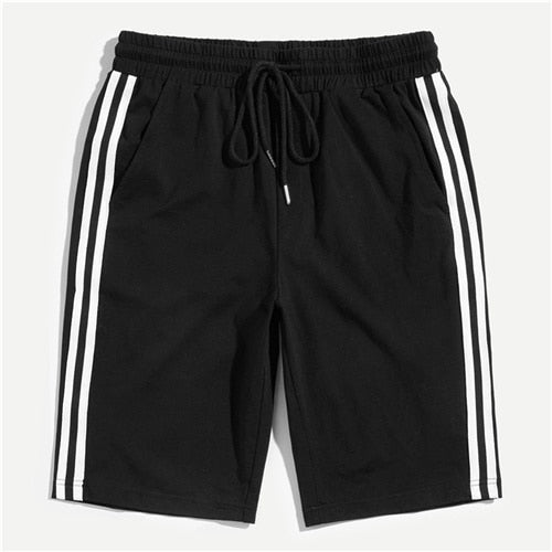 Men's Striped Streetwear Shorts