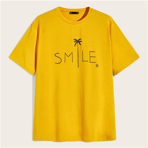 Smile Everyday Mood Print Tee