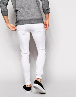 Men's Knee Ripped Skinny Stretch Jeans - SOLD OUT