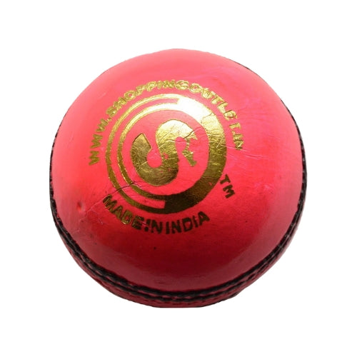 SO ALLOUT LEATHER BALL- RED