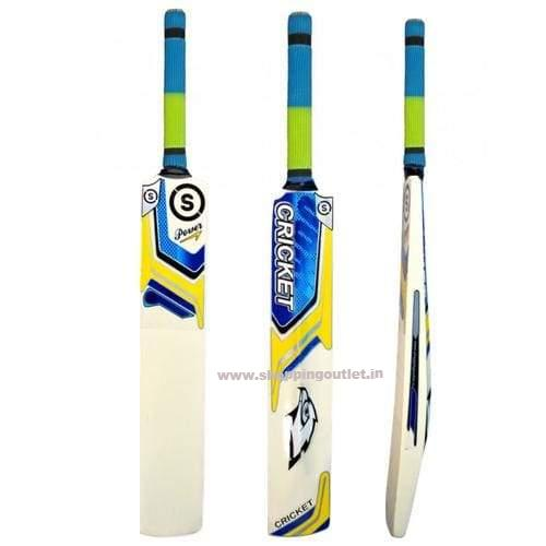 So Cricket Blue Selected Popular Willow Tennis Cricket Bat (Grip Color May Vary) Cricket Bat