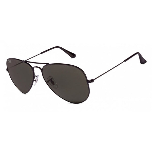 So Power Aviator Black Sunglasses (Unisex) Sunglasses