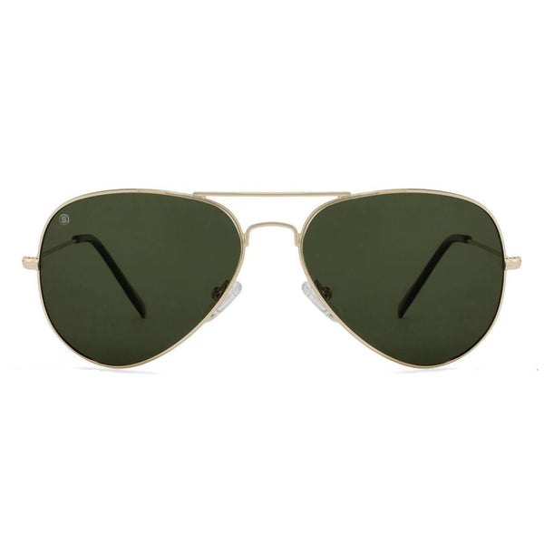 So Power Aviator Green Black Sunglasses (Unisex) Sunglasses