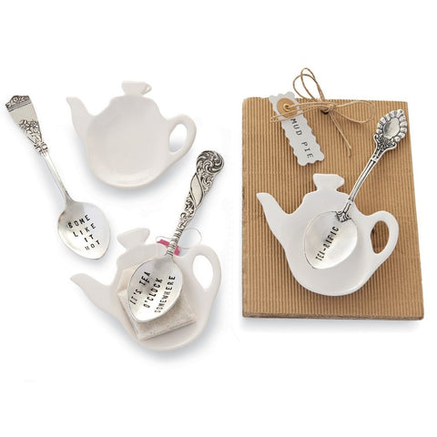 Tea Bag Holder and Spoon Set