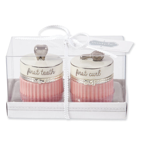 Pink & Platinum Tooth & Curl Set
