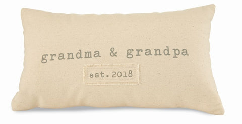 Grandparents Est. 2018 Pillow