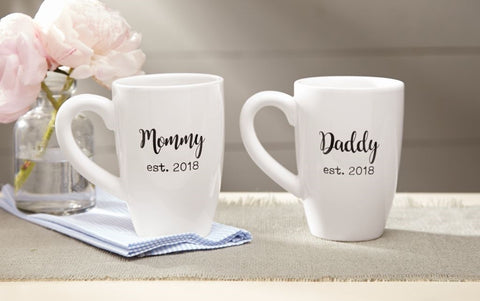 PARENTS EST. 2018 MUGS