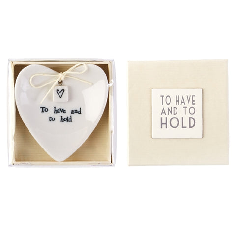 """To Have and To Hold"" Ring Dish"
