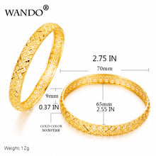 Luxury Ethiopian Bangles 24k Gold Color