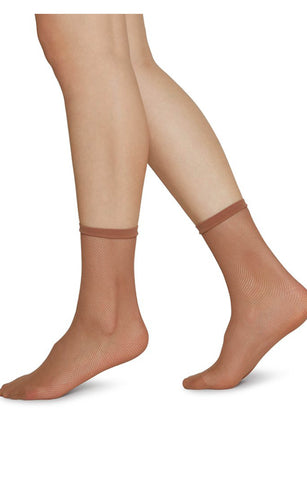 ELVIRA NET Caramel Socks