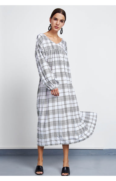 BIELA Checked Maxi Dress
