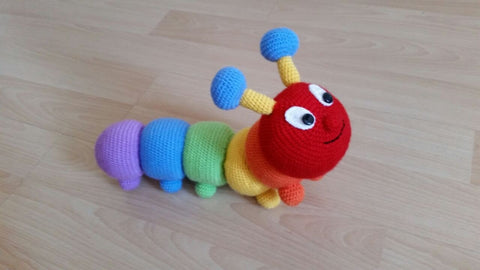 Crochet Rainbow Caterpillar by OAK Charity