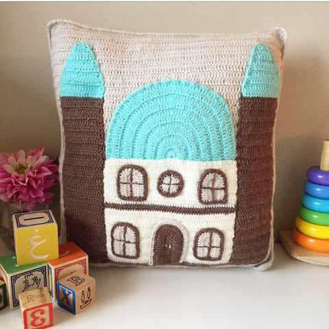 Crochet Mosque Cushions by OAK Charity