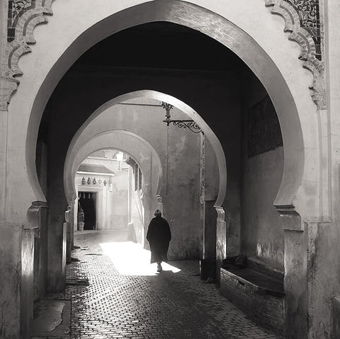 Walking into the light (Marrakesh): Ready to Hang canvas art