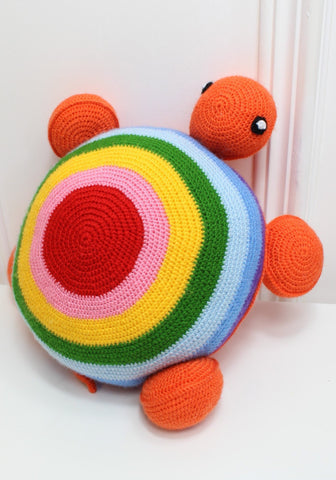 Crochet Rainbow Turtle by OAK Charity