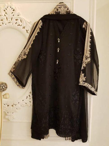 Agha Noor Black Embroidered Kurta 2 Piece