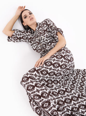 Ethnic Pattern Seem West Dress