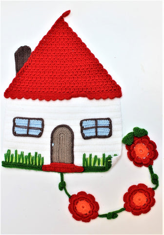 Crochet White House Wall Hangings by OAK Charity