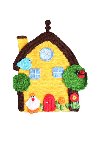 Yellow House Crochet Wall Hangings by OAK Charity