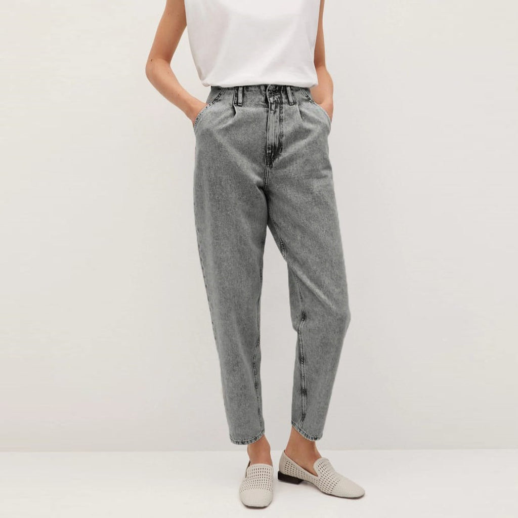 Garag Balloon slouchy ultra high rise ankle grey jeans
