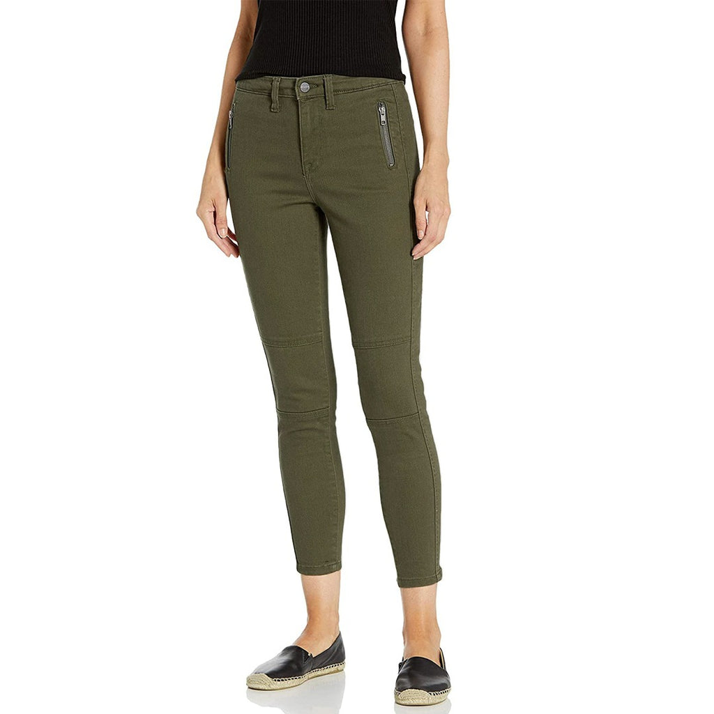 santury high rise stretchable green social ankle skinny jeans