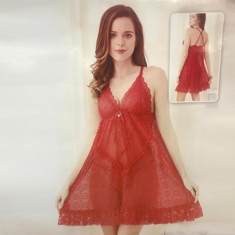 wozuly baby doll red frok lace Lingerie (4455002767408)