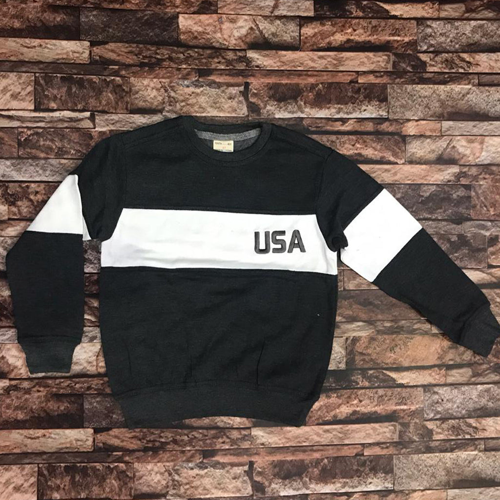 Brand TNT grey white penal USA sweat shirt for kids (4444542468144)