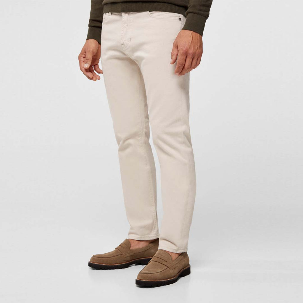 Brand Ctf slim fit stretchable off-white mens cotton jeans