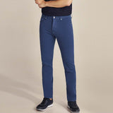 Brand pedro slim fit stretchable royal blue mens cotton jeans