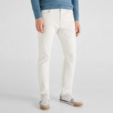 Brand Ctf slim fit stretchable white mens cotton jeans