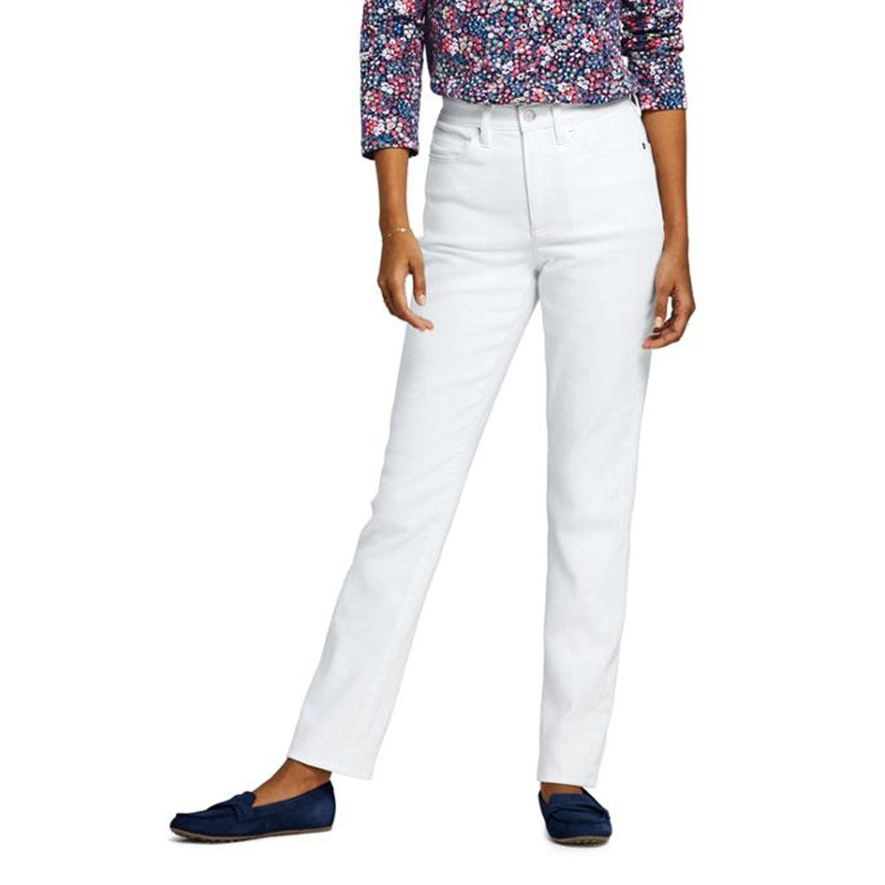 colrado women straight fit stretchable white jeans