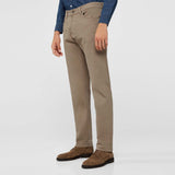 Brand Ctf slim fit stretchable beige mens cotton jeans