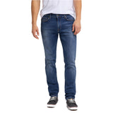 Brand mustng slim fit stretchable mid blue jeans