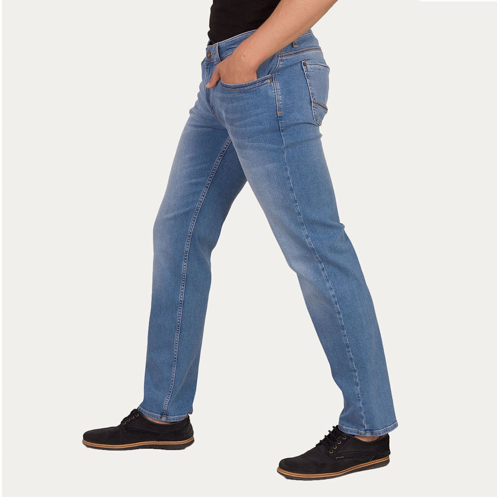 Brand mustng slim fit stretchable sky blue jeans