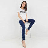 Brand Gess solid blue slim fit stretchable jeans (4433666113584)