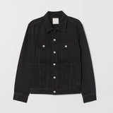 weekday men's faded black denim jacket