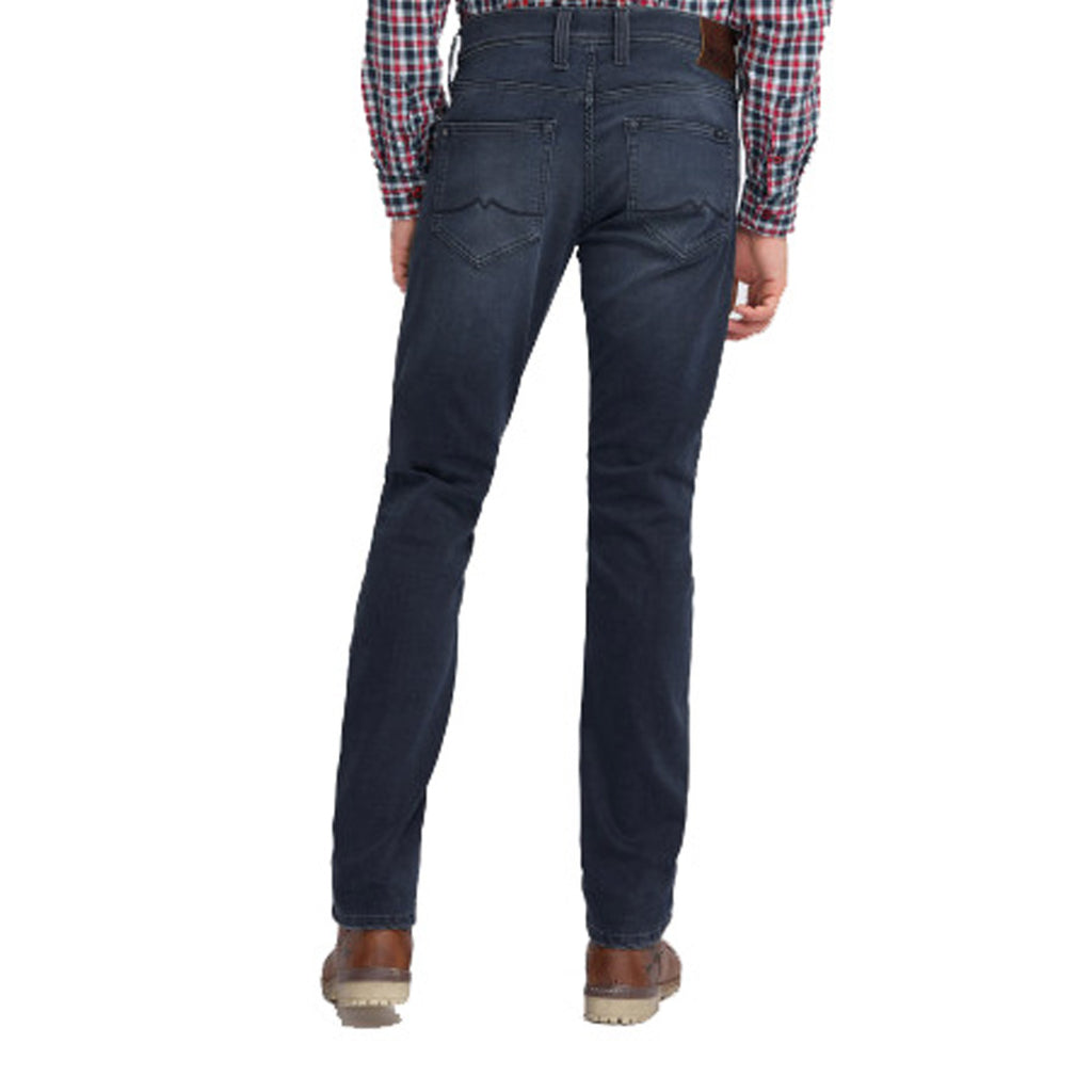 Brand mustng slim fit stretchable blackish blue jeans