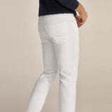 Brand pedro slim fit stretchable white mens cotton jeans