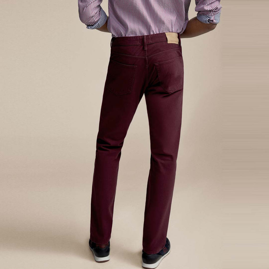 Brand pedro slim fit stretchable maroon mens cotton jeans