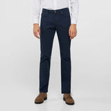 Brand Ctf slim fit stretchable navy blue mens cotton jeans