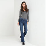 brand c-a faded medium blue ladies bootcut jeans