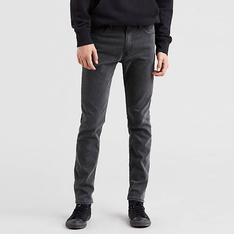 Brand hotric slim fit stretchable dark grey mens jeans