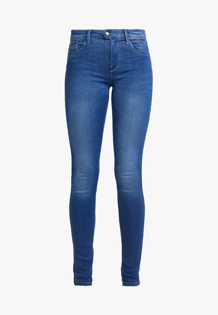 Brand only skinny fit super stretch royal blue ladies jeans (3799476731952)