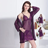 wozuly baby doll purple 3 pcs set lace Lingerie (4455019839536)
