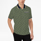 Brand SA green printed mens polo shirt (4420005953584)
