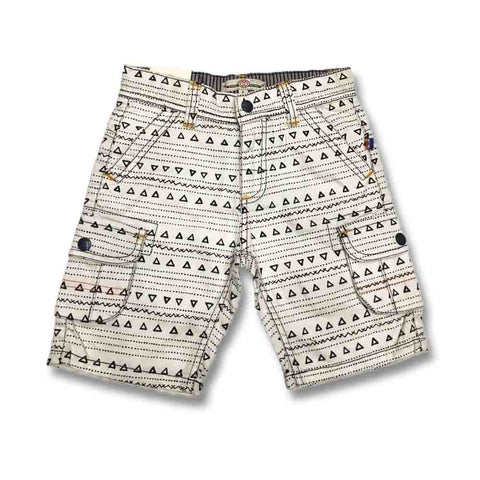 KIDS COTTON WHITE ADJUSTABLE SHORTS