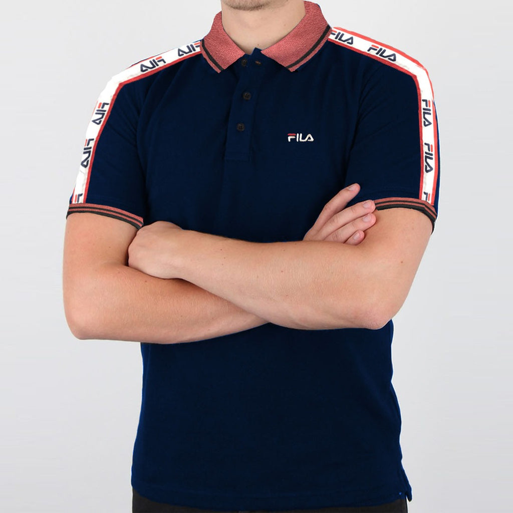 F!la navy blue mens polo shirt