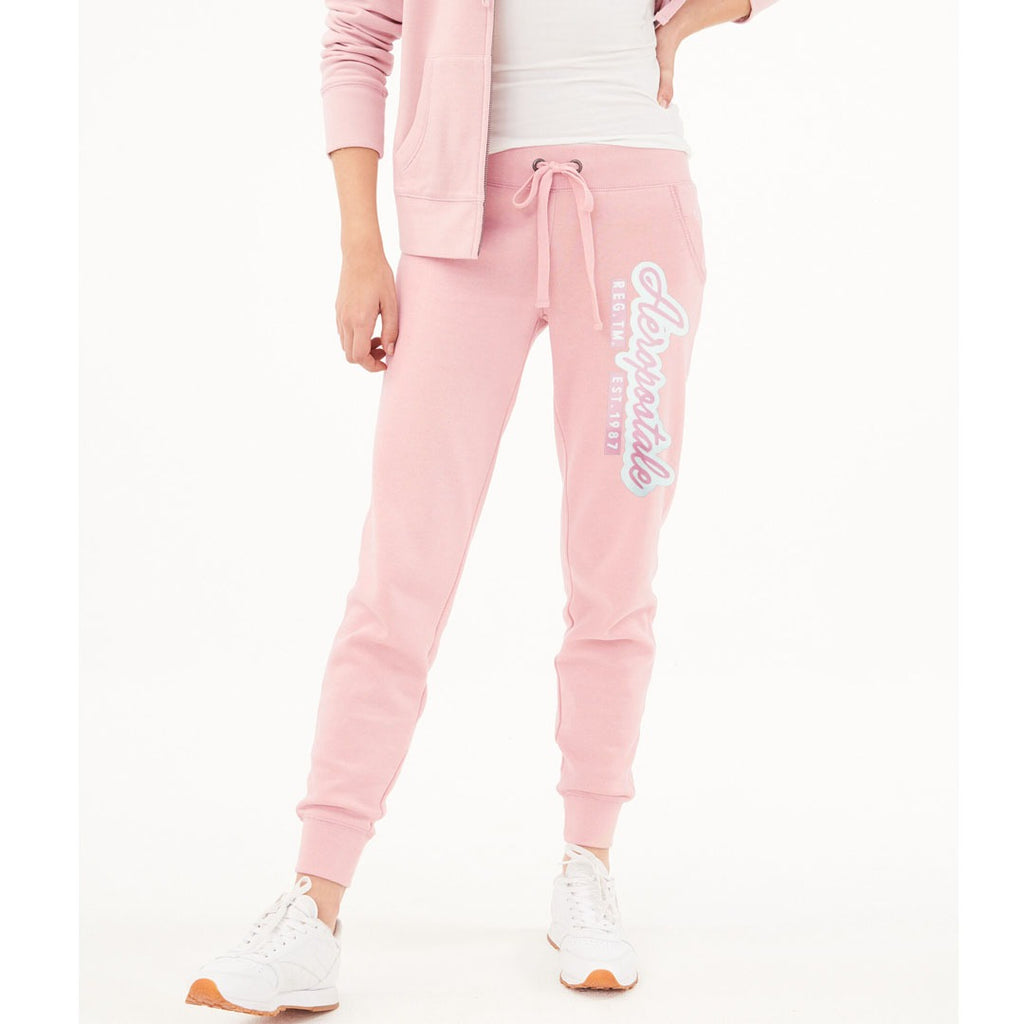 eropstl women pink sweat jogger pant