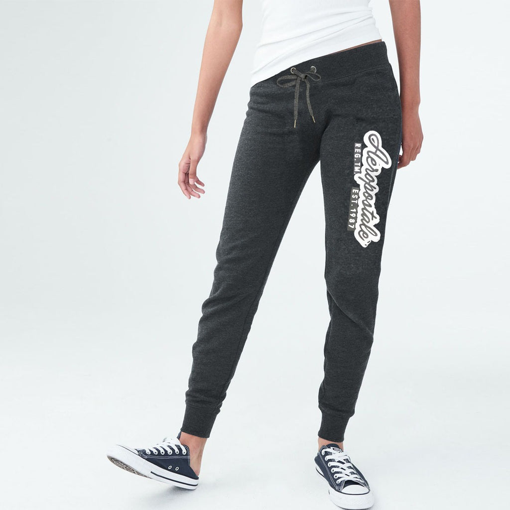 eropstl women grey printed slim fit sweat jogger pant